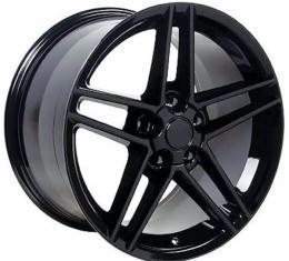 Corvette 17 X 9.5 C6 Z06 Reproduction Wheel, Black, 1988-2004