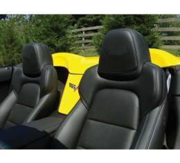 Corvette C6 Speed Lingerie Black Headrest Covers, 2012-2013