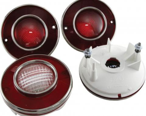 Corvette Taillight Set, With Back-Up Lights, 1975-1979