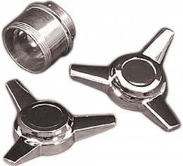Corvette Wheel Straight Fin Spinner Set, 1984-1987