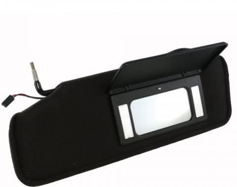 Corvette Sunvisor, With Lighted Mirror, Left, 1984-1996