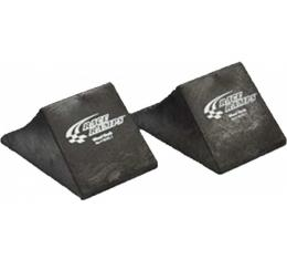 Chock, Pair, Solid Rubber
