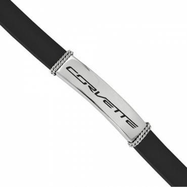 Corvette C7 Ladies Stainless & Rubber Bracelet