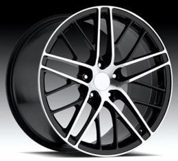 "Corvette Wheel, ZR1 Style, 19"" x 10"", Black, Machine Face, 2005-2013"