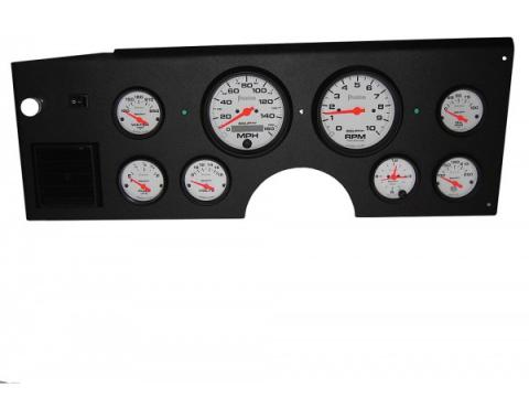 Corvette Gauge Cluster, Electronic Analog, 8 Gauge, White Face Speedhut Gauges, 1984-1989
