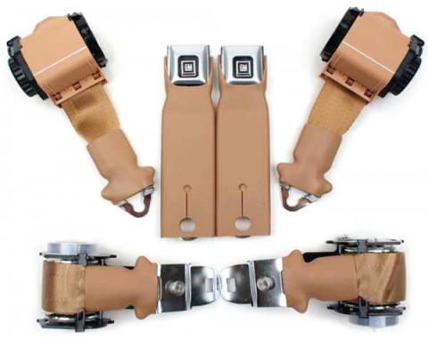 Seatbelt Solutions 1974-1975 Corvette Convertible OE Style Premium Dual Retractable Lap and Shoulder Belts