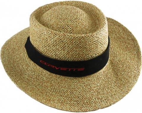 Corvette Late Model Straw Hat With Band