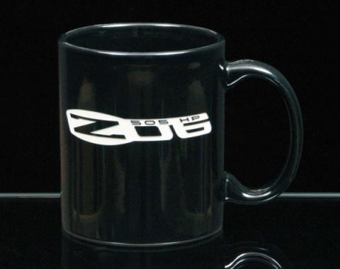 Corvette 11 Ounce Coffee Mug, C-Handle, Black, 1953-2013