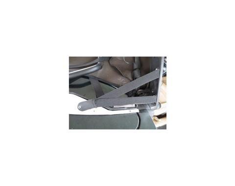 Corvette Convertible Cloth Top, Twill Fast II, With Hard Window, Black, 1998-2004
