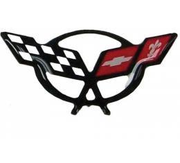 Corvette C5 OEM Black Pillar 3D Domed Logo Decal, 1997-2004