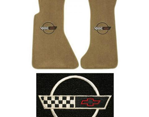 Auto Custom Carpet, Floor Mats, Cut-Pile, With Embroidery #215 Logo| 42716 Corvette 1991-1993