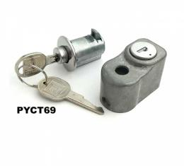 Corvette Rear Compartment & Spare Tire Lock Kit With Original Keys, Concours Correct, 1969-1977