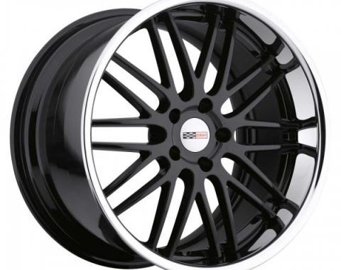 Corvette Wheel, Cray Hawk 19x10'' Gloss Black With Chrome Stainless Lip, 2014-2015