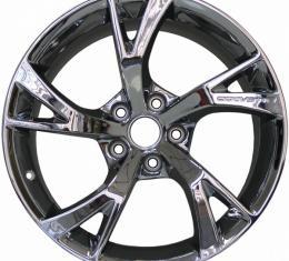"Corvette Wheels, Grand Sport Style,18""x9.5"" Front & 19""x12"" Rear, Chrome, ZR1, Z06, Grand Sport, & Stingray Only, 2006-2017"