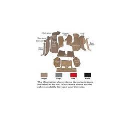 Auto Custom Carpet, Carpet Set, Poly Back, Cut-Pile| 42403 Corvette Convertible 1994-1996