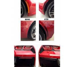 Corvette Blackout Side Marker And Lower Rear Bumper Reflector Acrylic Covers, 2014-2017