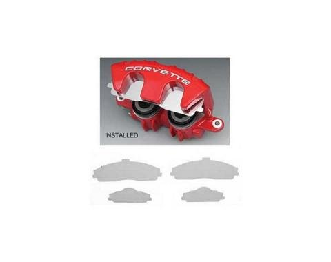 Corvette Stainless Steel Brake Pad Covers, 1997-2013