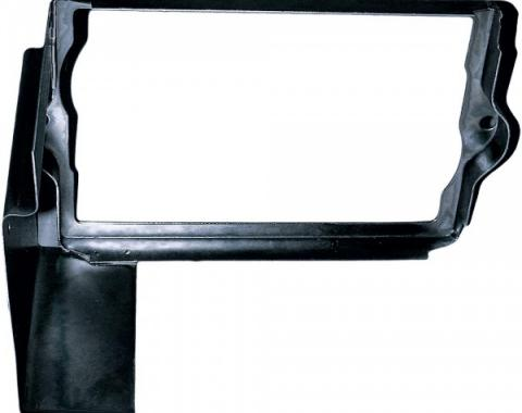 Corvette Battery Tray Shield/Retainer Black, 1963-1966