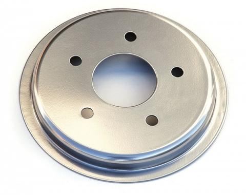 Corvette Brake Rotor Hub Covers, Satin Chrome, 1997-2004