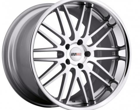 Corvette Wheel, Cray Hawk 19x11'', Rear Only, Silver With Machined Face And Chrome Stainless Steel Lip, 2014-2017