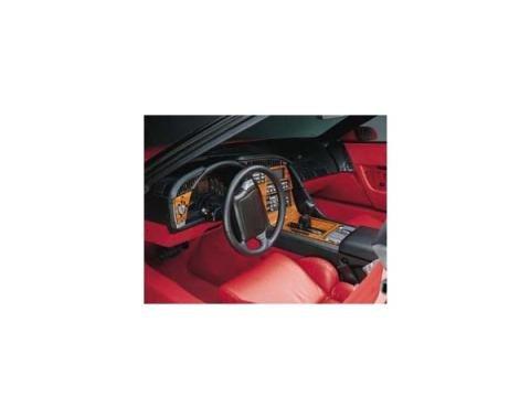 Corvette Dash & Trim Kit, ZR1/LT5, Rosewood, 1990-1991