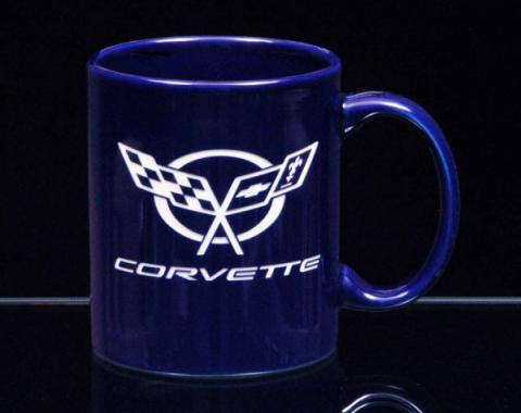 Corvette 11 Ounce Coffee Mug, C-Handle, Cobalt Blue, 1953-2013