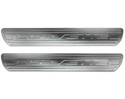 Corvette C6 Billet Chrome Door Sills