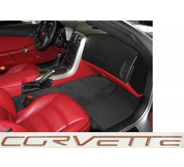 Corvette C6 Dash Lettering Kit, 2005-2013 | Atomic Orange