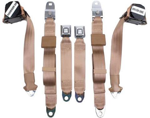 Seatbelt Solutions 1970-1971 Corvette Single Retractable Lap and Shoulder Belts