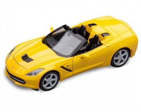 Corvette Yellow Stingray Convertible Die-Cast Model