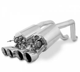 Corvette B&B Fusion Exhaust System, With Quad Round Tips & Control Kit, 2009-2013