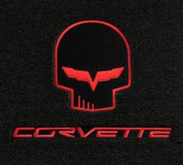 Lloyd Mats, Floor Mats With Jake / Racing Logos, Ebony| 228118 Corvette 2007Late-2013