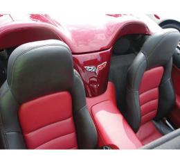 Corvette Seat Covers, Standard, 100% Leather, Two-Tone, 2007-2011 | Ebony/Titanium