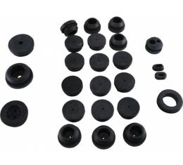 Corvette Firewall/Body Grommet Set, 25 Piece, 1958-1962