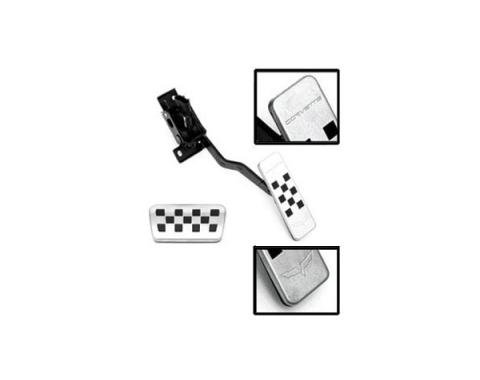 Corvette Pedal Covers, Gas & Brake,  With Automatic Transmission, 2005-2013
