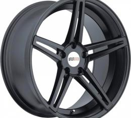 Corvette Wheel, Cray Brickyard, 18x9, Matte Black, 1984-2017