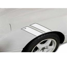 Corvette Fender Accent Stripes, White With Gray Trim And Collectors Edition Emblem, 1984-1996