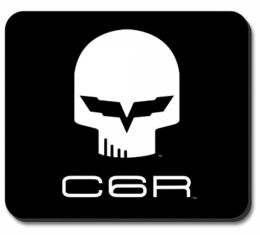 """Corvette Mouse Pad, Corvette C6R """"Jake"""" Black & White Image"""