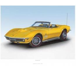1969 Corvette Daytona Yellow Print By Hugo Prado