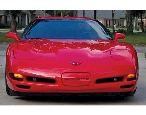 Corvette Front 2 Piece Molded Parking Light Blackout Kit, 1997-2004