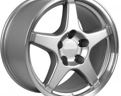 "Corvette Five Spoke 17"" x 9.5"" Wheel, Machined Lip, 1988-1996"