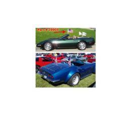 Corvette Flag Caddies, Rear Mount, Convertible, 1968-1996