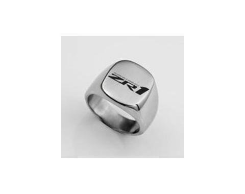 Corvette C7 ZR1 Polished Stainless Signet Ring