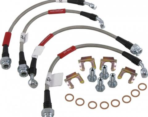 Corvette Brake Line Kit, Braided Stainless Steel, 1988-1993