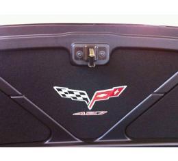 Corvette Trunk Lid Inner Liner, C6 427 Logo, Black, 3 Piece, 2013