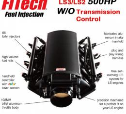Ultimate LS Fuel Injection Kit for LS3/L92 - 500HP w/o Trans. Control   FiTech - 70011