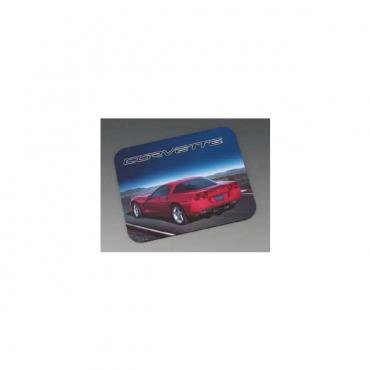 Corvette C6 Mouse Pad, With Red Coupe