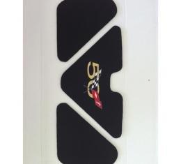 Corvette Trunk Lid Inner Liner, 50th Logo, Black, 3 Piece, 2003