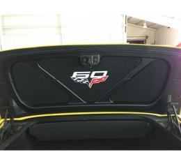 Corvette Trunk Lid Inner Liner, C6 60th Logo, Black, 3 Piece, 2013