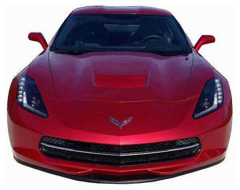 Corvette Stingray Painted Body Color Front Splitter, Stage 1, 2014-2018